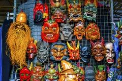 A feira da ladra de madeira de Panjuan das decorações das máscaras da réplica chinesa seja Fotos de Stock