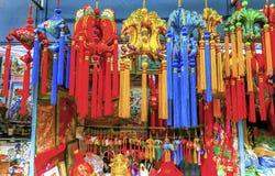 Feira da ladra de seda chinesa Decoratio de Panjuan das decorações do ano novo fotografia de stock