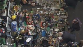 Feira da ladra do ` de Els Encants do ` em Barcelona video estoque