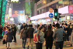 Feira da ladra em Mong Kok em Hong Kong Fotos de Stock