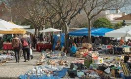 Feira da ladra. The flea market in the city of Lisbon Royalty Free Stock Photography