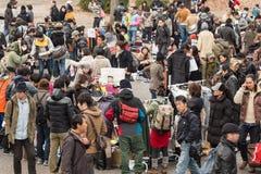 Feira da ladra no parque de Yoyogi em Harajuku, Japão Fotografia de Stock