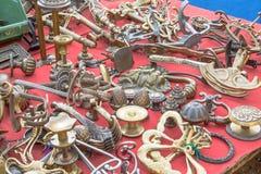 Feira da ladra velha do botão de porta do mercado Imagens de Stock
