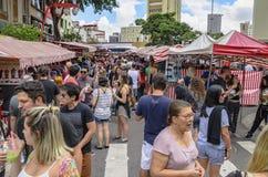 Feira da Liberdade, Sao Paulo SP Brazil. Sao Paulo SP, Brazil - March 03, 2019: People at the street market known as Feira da Liberdade liberty fair or Japanese stock photography