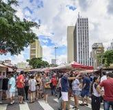 Feira da Liberdade, Sao Paulo SP Brazil. Sao Paulo SP, Brazil - March 03, 2019: People at the street market known as Feira da Liberdade liberty fair or Japanese royalty free stock photography