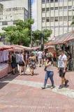 Feira da Liberdade, Sao Paulo SP Brazil. Sao Paulo SP, Brazil - March 03, 2019: People at the street market known as Feira da Liberdade liberty fair or Japanese royalty free stock images