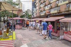 Feira da Liberdade, Sao Paulo SP Brazil. Sao Paulo SP, Brazil - March 03, 2019: People at the street market known as Feira da Liberdade liberty fair or Japanese stock image