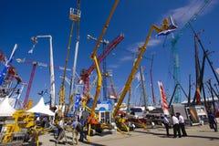Feira de comércio para máquinas de construção Foto de Stock Royalty Free