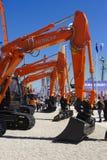 Feira de comércio para máquinas de construção Imagem de Stock Royalty Free