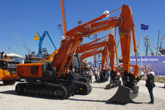 Feira de comércio para máquinas de construção Fotografia de Stock