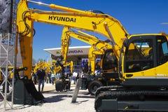 Feira de comércio para máquinas de construção Fotografia de Stock Royalty Free