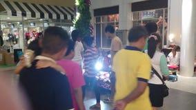 Feira de comércio tailandesa pequena, samutprakarn Tailândia do bangpree video estoque