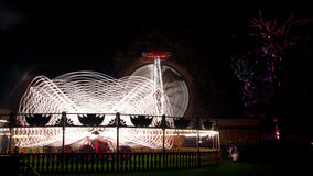 Feira de divertimento na noite Imagens de Stock Royalty Free