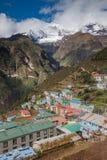 Feira de Highland Village Namche na região de Khumbu Imagem de Stock Royalty Free