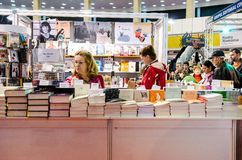 Feira de livro de Gaudeamus, Bucareste, Romênia 2014 Imagens de Stock