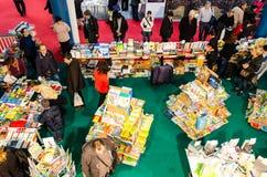 Feira de livro de Gaudeamus, Bucareste, Romênia 2014 Foto de Stock Royalty Free