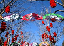 Feira do templo do ano novo lunar chinês tradicional Ilustração Royalty Free
