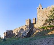 Feira-Schloss mit dem Casematebunker, der von den Wänden auftaucht Stockfotografie
