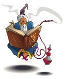 Feiticeiro árabe que levitating Imagem de Stock
