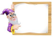 Feiticeiro dos desenhos animados do sinal Fotografia de Stock Royalty Free