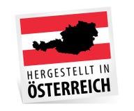 Feito em Áustria com mapa Imagens de Stock