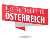 Feito em Áustria - Hergestellt em Ã-sterreich Imagem de Stock