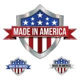 Feito em ícones de América ilustração royalty free