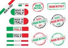 Feito em ícones de Italia Imagem de Stock