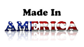 Feito em América Imagens de Stock Royalty Free