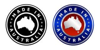 Feito em Austrália ilustração royalty free