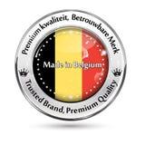 Feito em Bélgica, qualidade superior, língua confiada do dutch do tipo ilustração do vetor
