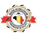 Feito em Bélgica, selo superior da qualidade ilustração stock