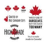 Feito em Canadá Imagem de Stock Royalty Free