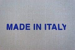 Feito em Itália Fotos de Stock