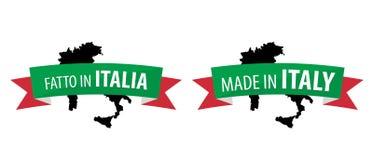 Feito em Itália - Fatto em Italia Foto de Stock Royalty Free