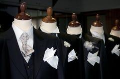 Feito em Italy: ternos costurados para homens Fotos de Stock