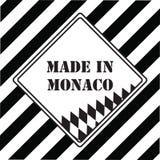 Feito em Mônaco ilustração stock