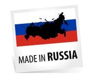 Feito em Rússia com bandeira Imagem de Stock Royalty Free