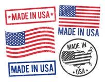 Feito em selos dos EUA Imagem de Stock