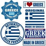 Feito em selos e em etiquetas de Greece ilustração stock