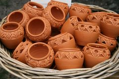 Feito a mão tailandês do produto de cerâmica Fotografia de Stock