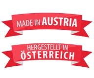 Feito na bandeira de Áustria Foto de Stock Royalty Free
