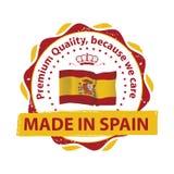 Feito na Espanha, selo superior da qualidade Foto de Stock Royalty Free