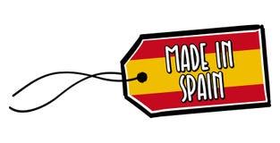 Feito na etiqueta da Espanha Imagem de Stock