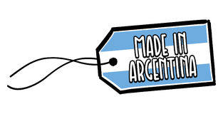 Feito na etiqueta de Argentina Imagem de Stock