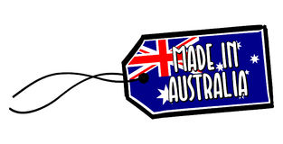 Feito na etiqueta de Austrália Fotografia de Stock