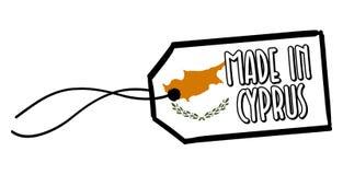 Feito na etiqueta de Chipre Fotos de Stock