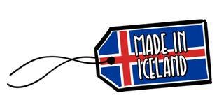 Feito na etiqueta de Islândia Imagem de Stock