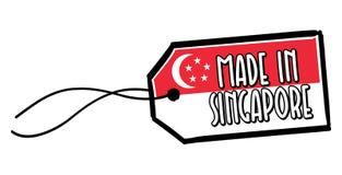 Feito na etiqueta de Singapura Imagem de Stock Royalty Free