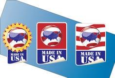 Feito na etiqueta dos EUA Imagens de Stock